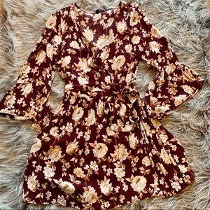 American Eagle Floral Wrap Dress